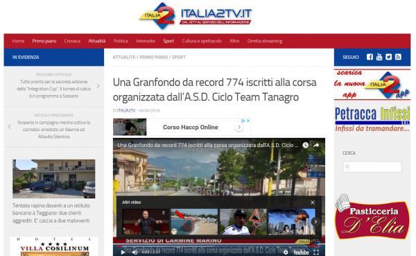 Una Granfondo da record 774 iscritti alla corsa organizzata dall'A.S.D. Ciclo Team Tanagro