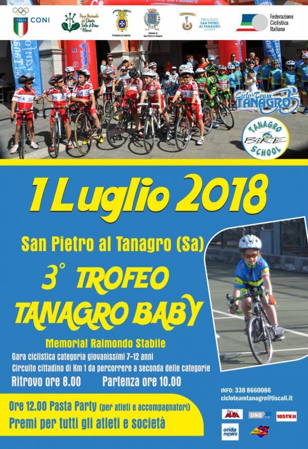 3° trofeo  TANAGRO  BABY  1 luglio 2018 presso Comune di San Pietro al Tanagro
